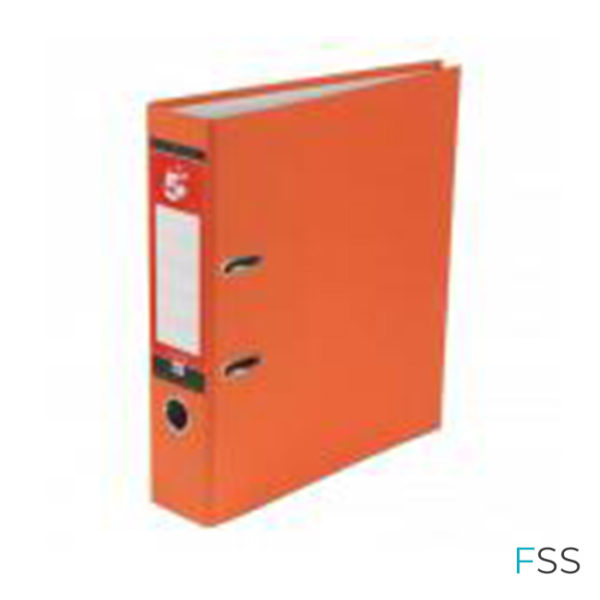 5-Star-Office-Lever-Arch-File-70mm-A4-Orange-Pack-10